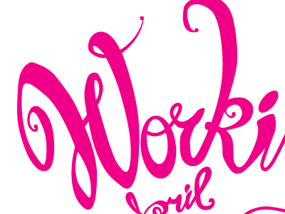movie poster lettering hand lettering pink cursive type