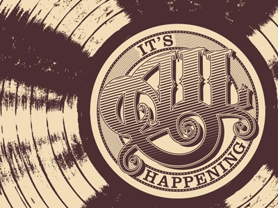It's All Happening typography lettering illustration pop culture film almost famous print