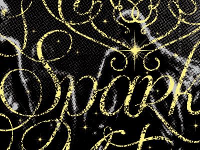 Sparkle Motion screenprint halftone sparkle donnie darko stars typography lettering