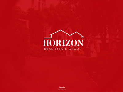 Horizon Real Estate Logo flat app typography icon ux illustration design branding negative space minimalist trend 2018 realtor real estate house logo