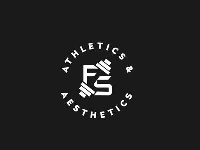 Personal Trainer Logo gradient 2019 flat black and white personal trainer logo minimalist branding negative space gym logo
