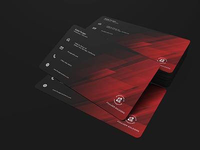 Personal Trainer Business cards design illustration blue 2019 button coachella app minimalist businesscard flat logo branding