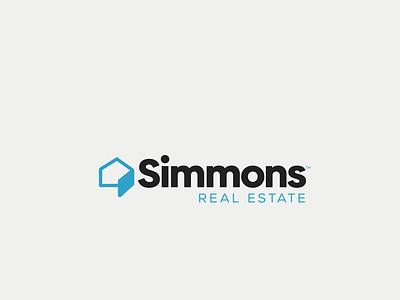 Simmons Real Estate icon flat ux hospitality united kingdom real estate realtor logo house logo typography vector ui logo branding