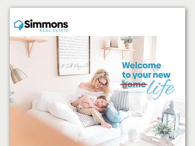 Simmons Real Estate branding ui ux logo minimalist