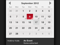 Early Design for events in iOS app