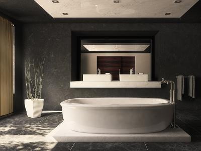 Contemporary Bathroom c4d cinema4d vray bathroom interior
