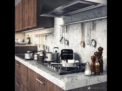 Kitchen Countertop kitchen c4d cinema4d vray