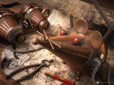 Rodent Prototype c4d cinema4d vray steampunk