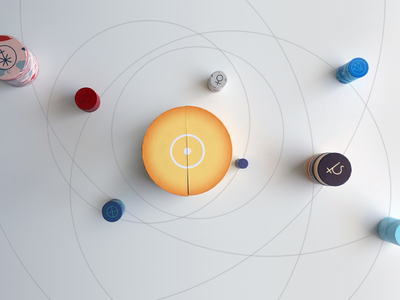 Solar system - round boxes pack special edition
