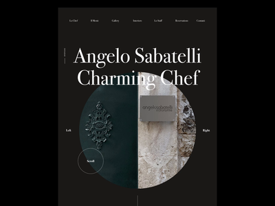 Angelo Sabatelli - Web Concept layout type clean minimal web design website web ui typography design