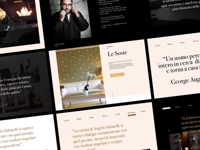 Angelo Sabatelli - Web Concept layout type minimal clean web design website web typography ui design