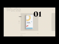Folio'20 - Works page animation on CSS Design Awards!