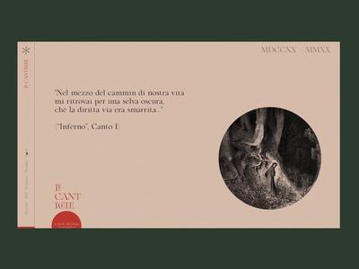 Le Cantiche @1320-2020 ⁙ 003 ⁙ type ux minimal clean web design website web typography ui design
