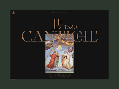 Le Cantiche @1320-2020 ⁙ FWA ⁙ animation type minimal clean web design website web typography ui design