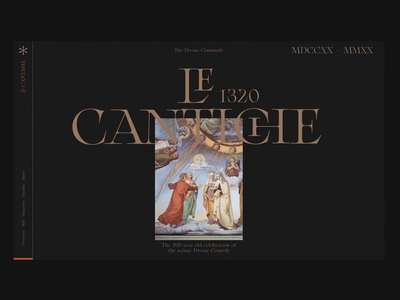 Le Cantiche @1320-2020 ⁙ 002 ⁙ animation type minimal clean web design website web typography ui design