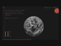 Le Cantiche @1320-2020 ⁙ 004 ⁙ animation type minimal clean web design website web typography ui design