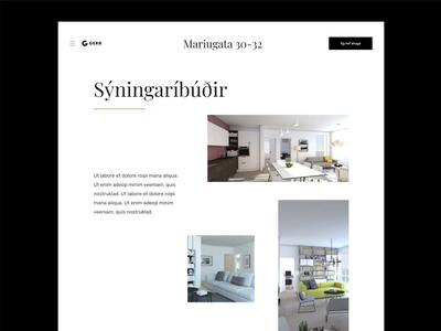 Gerd Construction type ux minimal clean web design website web typography ui design