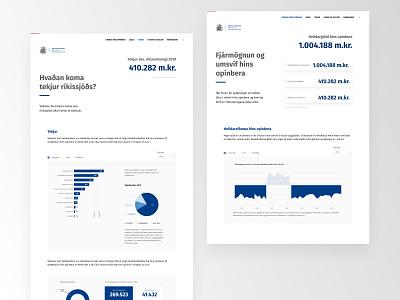 Stjórnarráð Íslands - The Ministry of Finance & Economic Affair type ux minimal clean web design website web typography ui design