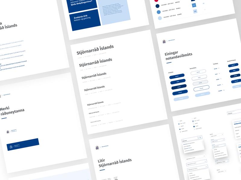 Stjórnarráð Íslands - The Ministry of Finance & Economic Affair branding brand color palette icon elements style guide components styleguide type ux minimal clean web design website web typography ui design