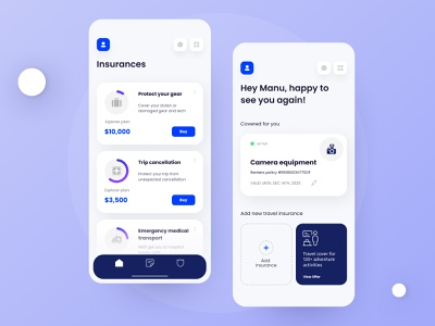 Insurance App travel travel app clean design flat design insurtech insurance company insurance app insurance interaction design flatdesign flat animation branding ux type minimal clean typography ui design