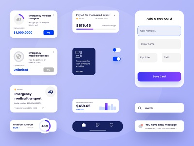 Insurance App inspirations clean design insurance pensions insurance company insurtech insurance app insurance flat design flat icon animation brand branding ux type minimal clean typography ui design