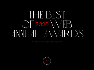 AnnnuaI AWWWARDS 2020 - Independent of the Year Nomination nomination designer ui design animation award winning awards type minimal clean web design web website ui design