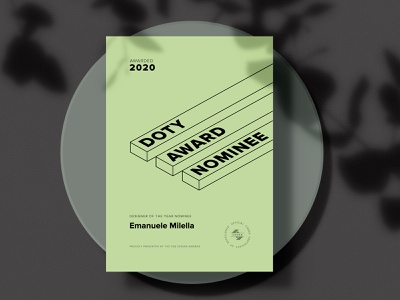 CSSDA Nomination: Designer of the Year 2020! uidesign uiux flat awards type ux web design web website minimal clean typography ui design