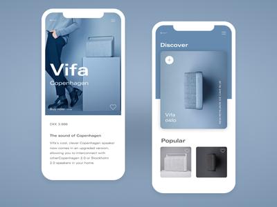 Vifa Copenhagen Blue - Mobile App