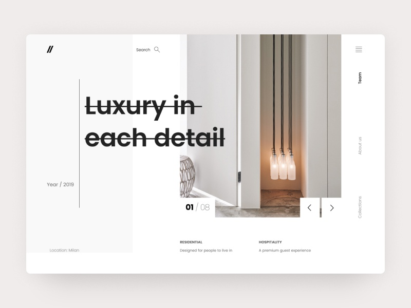 Architecture & Interior Design - Happy Studio web design website web vector ux ui typography type minimal logo illustration icon flat design clean character branding brand app animation