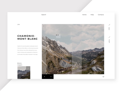 Chamonix Mont-blanc | Project N°21 ui ux web design website web vector ux ui typography type minimal illustration icon flat design clean character branding brand animation