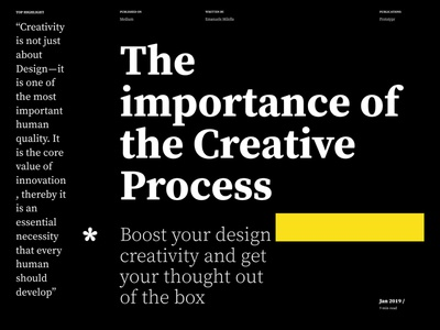 The Importance Of The Creative Process