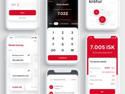 Mobile Bank - Payment app app bank app ui ux user fintech credit card transactions bank payments