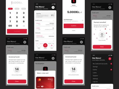 Digital wallet app brand product loans financing interaction vision finance mobile ux ui design branding