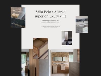 Villa Belo. Fiji - Residential layout minimal web design typography website web design ui clean