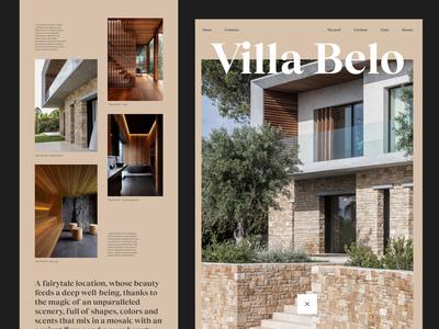 Villa Belo. Fiji - Residential layout minimal clean web design website web typography ui design