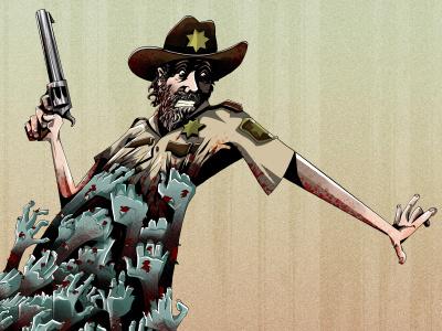 Zombies Everywhere! zombie movie film design poster portrait illustration comic art