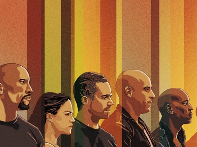 The Fast And The Furious promotional advertising fast and furious movie film poster drawing character design illustration