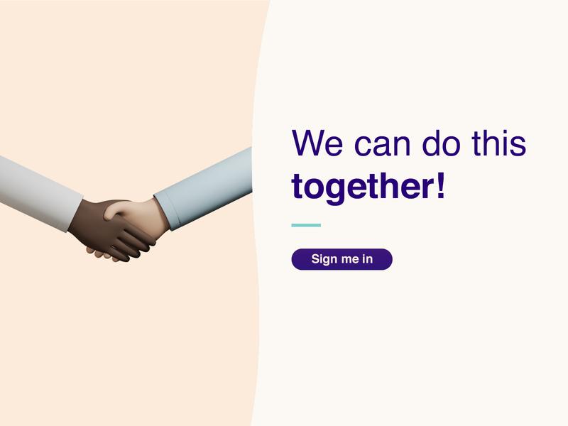 We can do this - together! illustrator website web branding ui library illustration design 3d