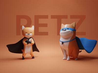 PETZ 🐶🐱 cute illustration cat illustration dog illustration cute cat cute dog cute animal pets pet cat dog cute illustrations blender resources illustrator library illustration design 3d