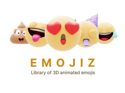 EMOJIZ - Library of 3D emojiz animated emoitcons animated emoji emoji emoticons illustrations blender website resources illustrator library illustration design 3d