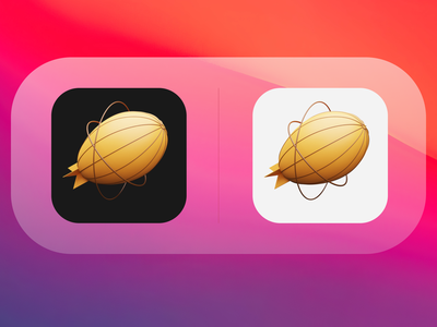 Zeplin BigSur 3D icon design illustrator macos big sur big sur icon macos icon zeplin zeppelin apple design blender 3d apple macos x macos big sur icons blender icon design iconography icon 3d