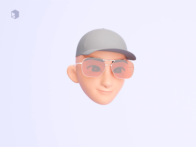 Sneek peak 2 kawaii facemoji 3d character design 3d character cute 3d animation animation 3d modeling blender3d blender mobile app web illustrator illustrations apple memoji resources 3d illustration design