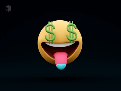 🤑 Money-Mouth Face animated graphic design motion graphics emoticon money cute ui library 3danimation animation emojis illustrations resources blender 3d illustration design