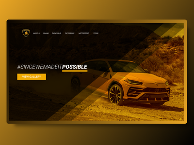 New Lamborghini Urus Landing Page Concept responsive modern personal imagery create account register sign up user interface user experience ui ux landing page concept