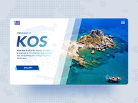 Kos Holiday Page Concept
