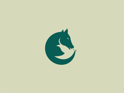 horse and bird logo