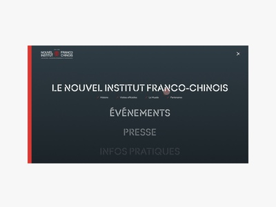 Nouvel Institut Franco Chinois animation web ui branding website webdesign design art direction