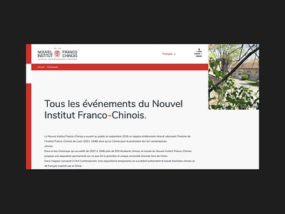 Nouvel Institut Franco Chinois layout grid animation web ui branding website webdesign design art direction