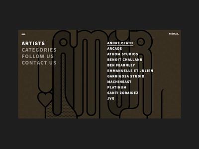 Pellmell layout grid animation web ui branding website webdesign design art direction