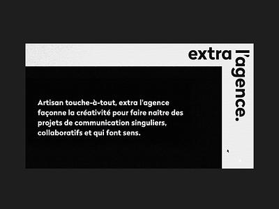 extra l'agence grid layout grid animation web ui branding website webdesign design art direction